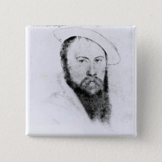 Portrait of Sir Thomas Wyatt the Younger 15 Cm Square Badge