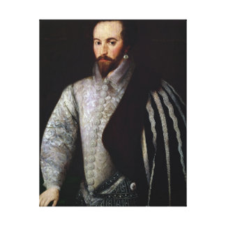 Portrait of Sir Walter Raleigh  1588 Canvas Print
