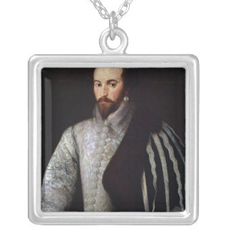 Portrait of Sir Walter Raleigh  1588 Silver Plated Necklace