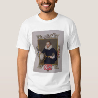 Portrait of Sir Walter Raleigh (c.1552-1618) from Tshirts