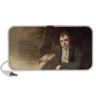 Portrait of Sir Walter Scott and his dogs Laptop Speakers