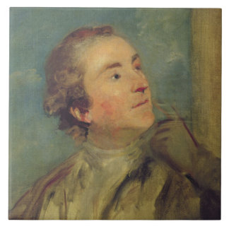 Portrait of Sir William Chambers (1726-96) (oil on Large Square Tile