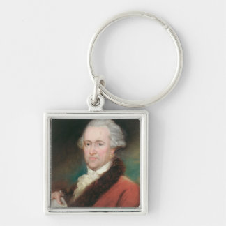 Portrait of Sir William Herschel  c.1795 Silver-Colored Square Key Ring