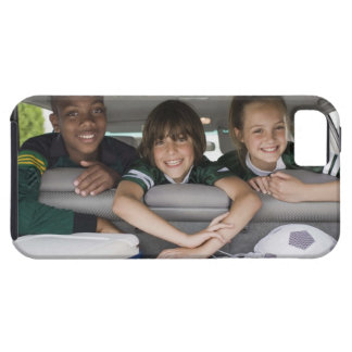 Portrait of smiling children in car iPhone 5 case