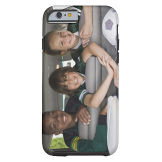 Portrait of smiling children in car tough iPhone 6 case