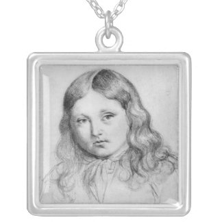 Portrait of Solange Sand Silver Plated Necklace