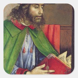 Portrait of Solon  c.1475 Square Sticker