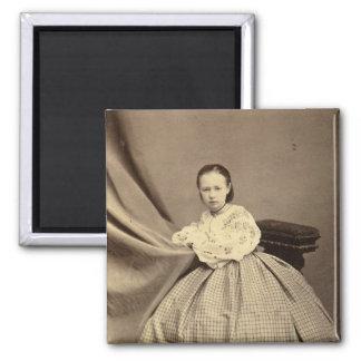 Portrait of Sophia Perovskaya Square Magnet