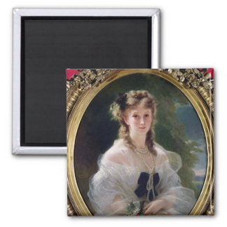 Portrait of Sophie Troubetskoy  Countess of Square Magnet