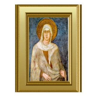 Portrait of St Clare, Assisi Postcard