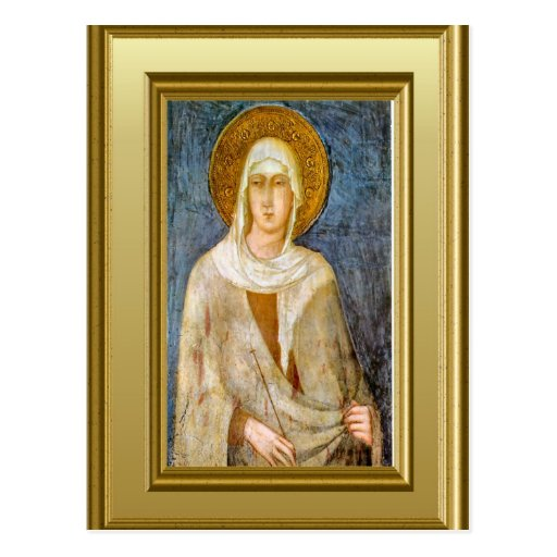 Portrait of St Clare, Assisi Postcards