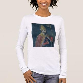 Portrait of St. Nicholas, 1700 (oil on canvas) Long Sleeve T-Shirt