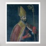 Portrait of St. Nicholas, 1700 (oil on canvas) Poster