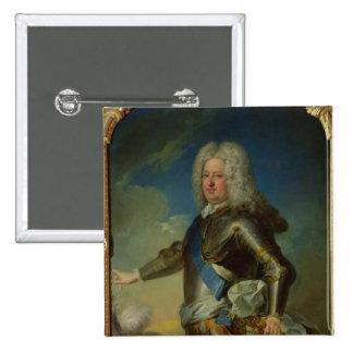 Portrait of Stanislas Lesczinski  King of Poland 15 Cm Square Badge