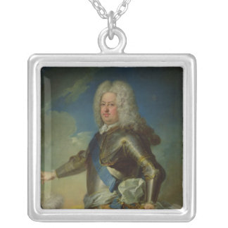 Portrait of Stanislas Lesczinski  King of Poland Silver Plated Necklace