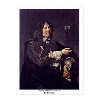 Portrait Of Stephen Geraedts By Hals Frans Postcard
