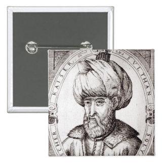 Portrait of Suleiman the Magnificent 15 Cm Square Badge