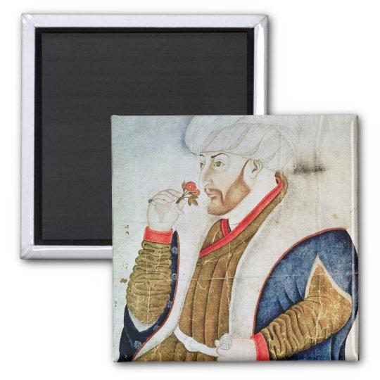 Portrait of Sultan Mehmet II Square Magnet