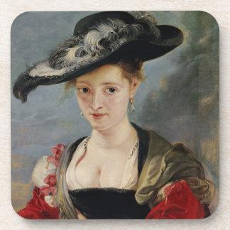 Portrait of Susanna Lunden (?) (Le Chapeau de Pail Coaster