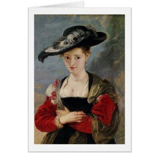 Portrait of Susanna Lunden (?) (Le Chapeau de Pail Greeting Card