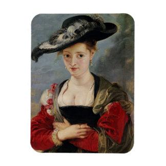 Portrait of Susanna Lunden (?) (Le Chapeau de Pail Rectangle Magnet