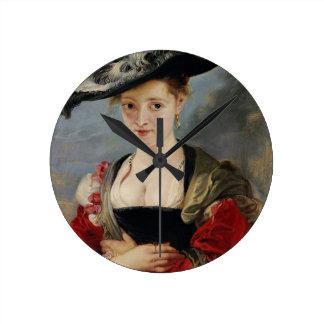 Portrait of Susanna Lunden (?) (Le Chapeau de Pail Wall Clocks