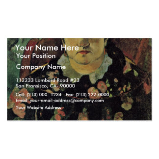 Portrait Of Suzanne Bambridge By Gauguin Paul Double-Sided Standard Business Cards (Pack Of 100)