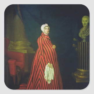 Portrait of the Actress and Praskovya Square Sticker