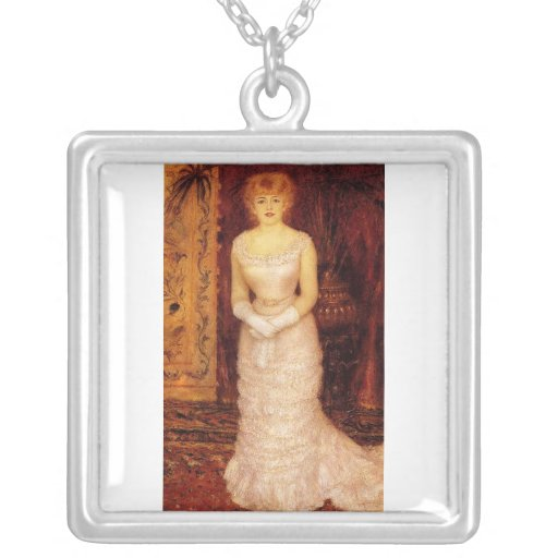 Portrait Of The Actress Jeanne Samary by Renoir Necklaces