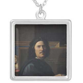Portrait of the Artist, 1650 Silver Plated Necklace