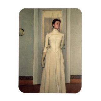 Portrait of the artist s sister Marguerite Khnopf Vinyl Magnets