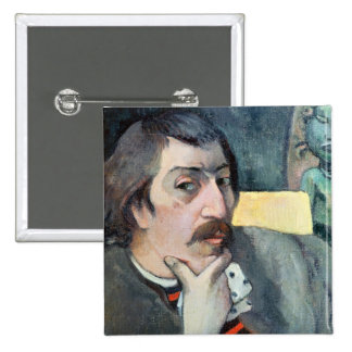 Portrait of the Artist with the Idol, c.1893 15 Cm Square Badge