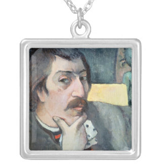 Portrait of the Artist with the Idol, c.1893 Silver Plated Necklace