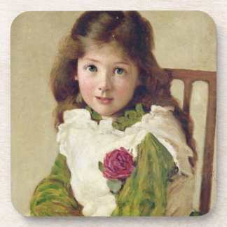 Portrait of the Artist's Daughter (oil on canvas) Beverage Coaster