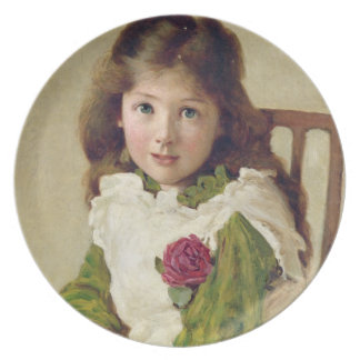 Portrait of the Artist's Daughter (oil on canvas) Plate