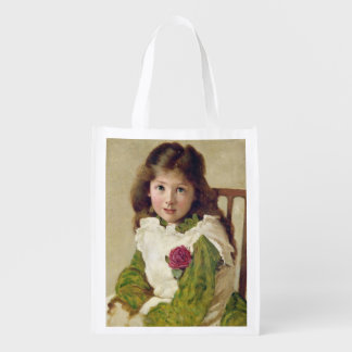 Portrait of the Artist's Daughter (oil on canvas) Grocery Bags