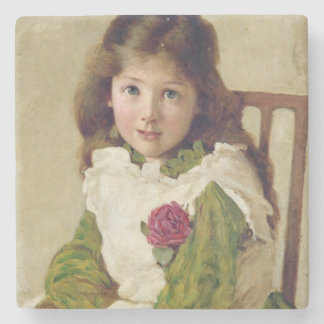 Portrait of the Artist's Daughter (oil on canvas) Stone Coaster
