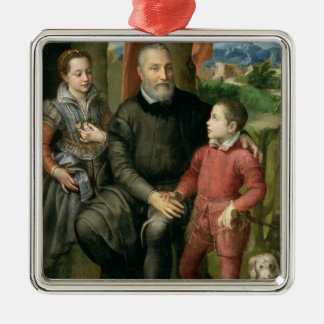 Portrait of the artist's family, Minerva Christmas Ornament
