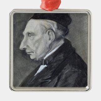 Portrait of the Artist's Grandfather, 1881 Silver-Colored Square Decoration