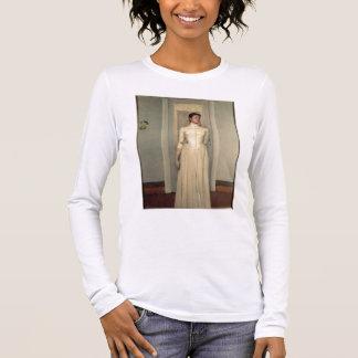 Portrait of the artist's sister, Marguerite Khnopf Long Sleeve T-Shirt