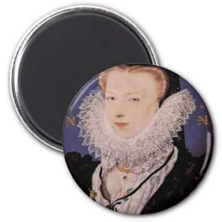 Portrait Of The Artist'S Wife, Alice Brandom Oval 6 Cm Round Magnet