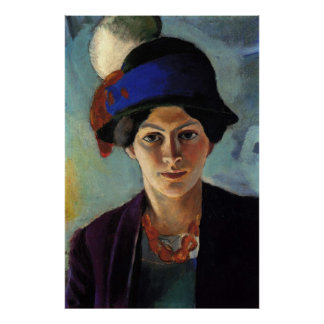 Portrait of the Artist's Wife by August Macke Print