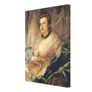 Portrait of the Artist's Wife Canvas Print