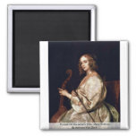 Portrait Of The Artist'S Wife, Mary Ruthven Fridge Magnets