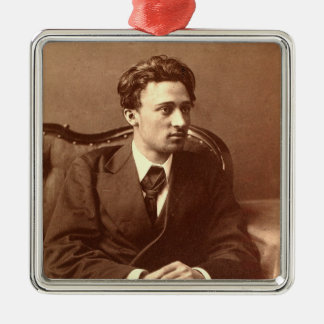 Portrait of the author christmas ornament