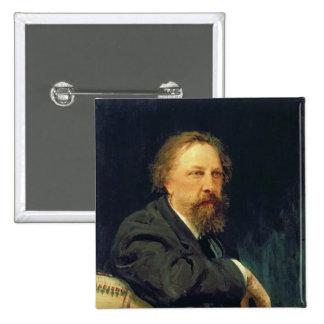 Portrait of the Author Count Alexey K. Tolstoy 15 Cm Square Badge