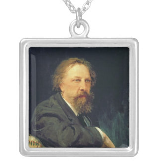 Portrait of the Author Count Alexey K. Tolstoy Silver Plated Necklace