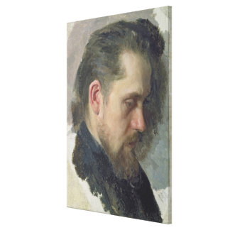 Portrait of the author Nikolay Pomyalovsky, 1860 Canvas Print