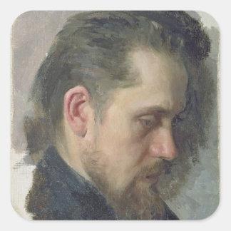 Portrait of the author Nikolay Pomyalovsky, 1860 Square Sticker