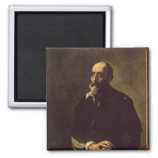 Portrait of the Blind Sculptor, Gambazo  1632 Square Magnet